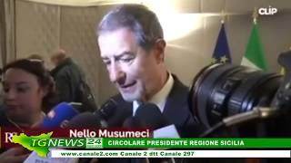 CIRCOLARE PRESIDENTE REGIONE SICILIA 09 MARZO 2020