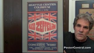Led Zeppelin Concert Poster Seattle 1970 Concerts West Presents