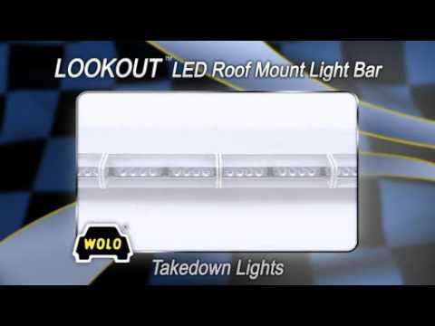 WOLO Lookout LED Lightbar - 88 Red LEDs, 48in.L, Model# 7910-R