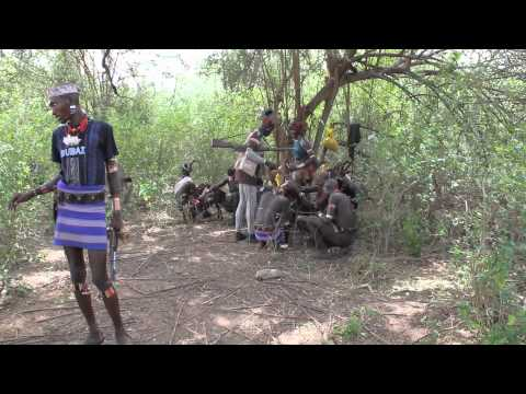 South Omo Ethiopia – beating of women and bull jumping