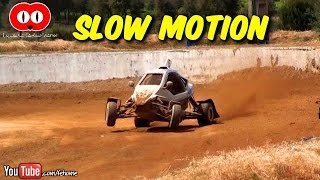 Kartcross and Autocross in Slow Motion