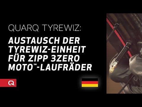 QUARQ: Austausch der TyreWiz-Einheit für ZIPP 3Zero MOTO™-Laufräder