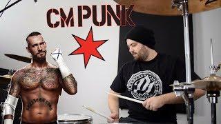 WWE CM PUNK Wrestling Career Theme Songs Drum Cover