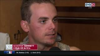 Cincinnati native Scooter Gennett describes 'special' home run for Reds in front of family & friends