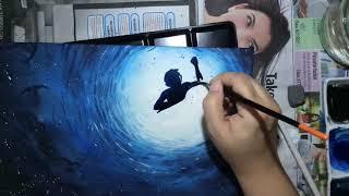 Ocean Underwater Watercolour Painting By Leach