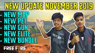 Free Fire November New Update Coming Soon 2019 || New Map New Guns & Many More - Live Reaction