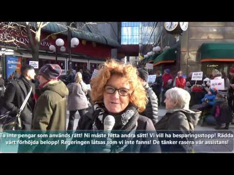 Cecilia Blancks tal från demonstrationen för att rädda det förhöjda beloppet