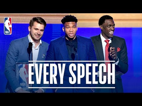 EVERY Speech From The 2019 NBA Awards! | Giannis, Doncic, Siakam and More!
