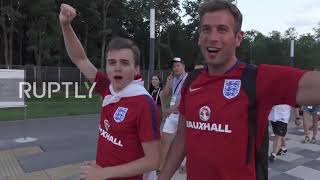 Russia: 'Drinking all your vodka!' English fans let loose after victory over Sweden