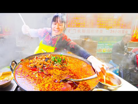 NUCLEAR Chinese Street Food NOODLE Tour of Chongqing, China – 5 INSANE SPICY + Chinese  Noodles!!