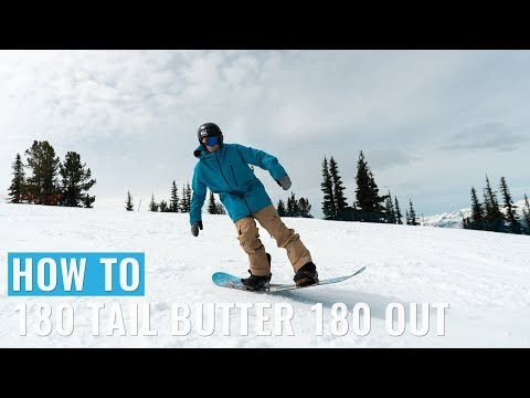 How To 180 Tail Butter 180 Out On A Snowboard