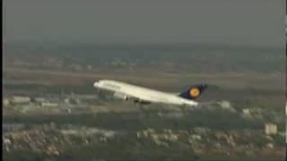 LÉGIFELVÉTEL: Airbus A380 Budapesten