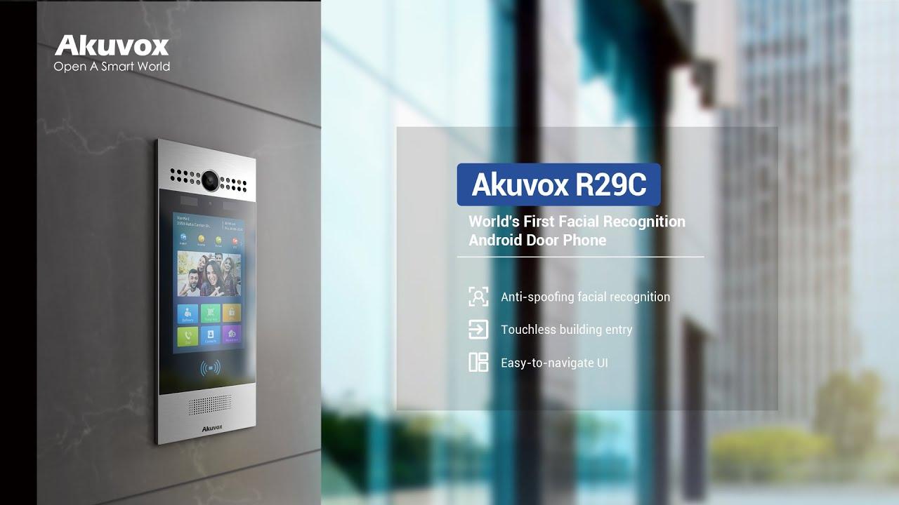 Phong cách & Mạnh mẽ: Hệ thống liên lạc truy cập không chạm - Akuvox R29C
