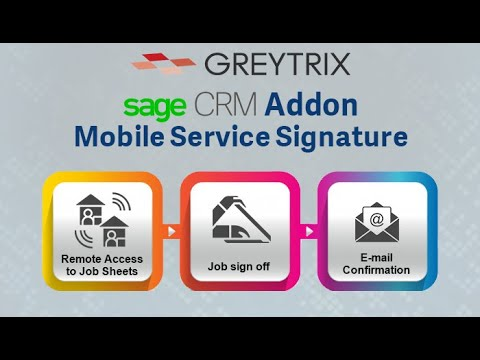 Sage CRM Mobile Service signature