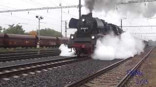 Železnice - Dva parní rozjezdy v podání 475.179 a 35.1097