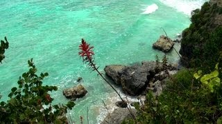 Beautiful views, relaxing music and sounds of waves