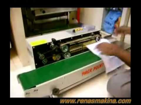 Renas Makina - Poşet Yapıştırma Makinası