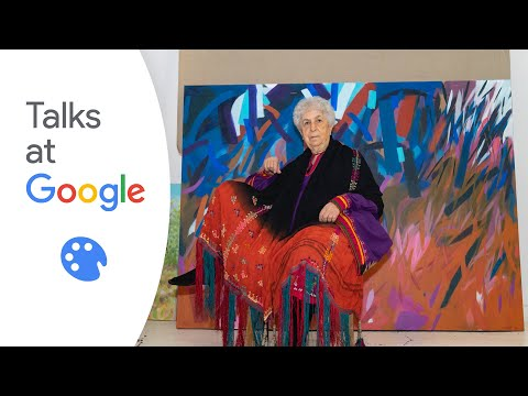 Samia Halaby   A Pioneer in the Global Art Scene   Talks at Google