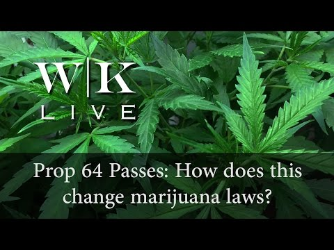 WK LIVE: What Prop 64 Passing Means for Marijuana Laws in California
