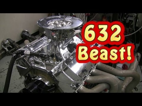 Download Video NRE NA 632 CI(10.4L) BBC Pump Gas Beast.  Tom Nelson.  Nelson Racing Engines.
