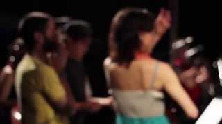 Grabación del Himno Nacional Argentino en el Centro Cultural Haroldo Conti - 25 de junio de 2014