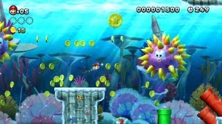 New Super Mario Bros. U - Mar de Menta-2 - Segunda Moeda-Estrela (Wii U)