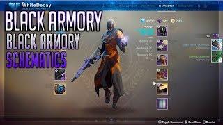 How to Get Black Armory Schematic | Black Armory Mod (Destiny 2 Black Armory)
