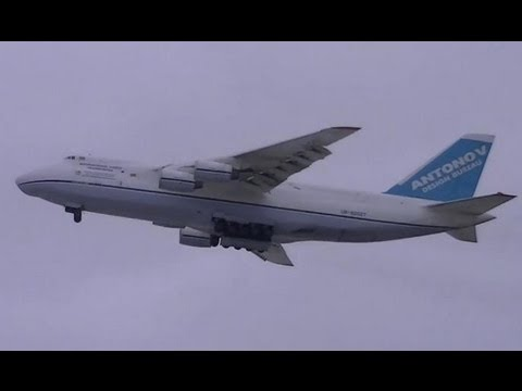 Antonov An-124 Aborted Landing!!!