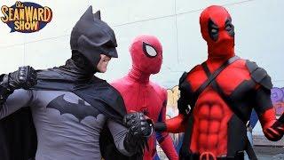 Spider-Man, Batman, Deadpool, Superhero Bloopers!