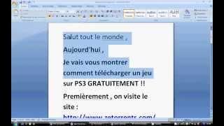 Télécharger des jeux PS3 flashé gratuitement (Utorrent)