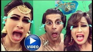 Naagin 2 lead actors crying in funny way on last episode of Naagin2 |Full video