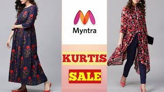 MYNTRA TRY ON KURTIS HAUL | Myntra kurti sale haul | Kurtis for everyday / college | Tina width=