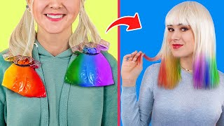 9 Cool Girly and Beauty Hacks / Rainbow Hacks and Pranks