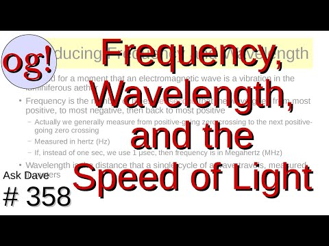 Frequency, Wavelength, and the Speed of Light (#358)