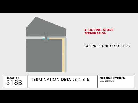 GAF Termination 4-5 Detail for TPO Commercial Roofing - Drawing 318B