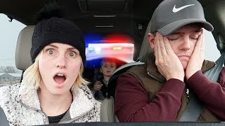 STOPPED By The POLICE! WHY? First Time Ever | Ellie And Jared width=