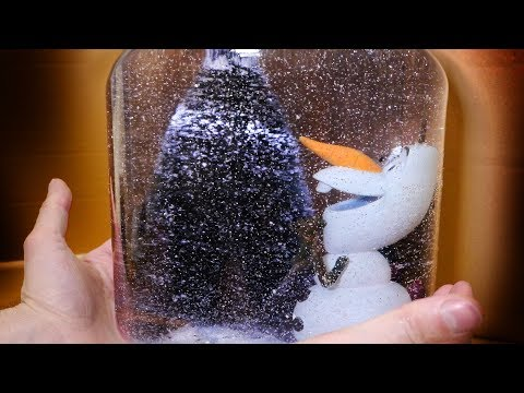 DIY Giant Frozen Olaf Snow Globe