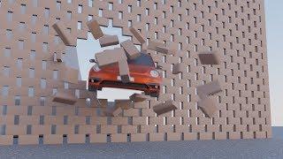 [CGI] Car Crashes through Wall Stunt (Blender Animation)