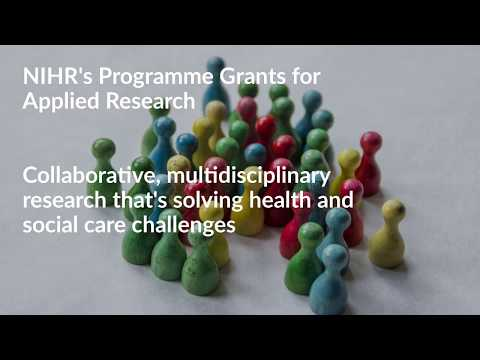 NIHR's Programme Grants for Applied Research - about PGfAR