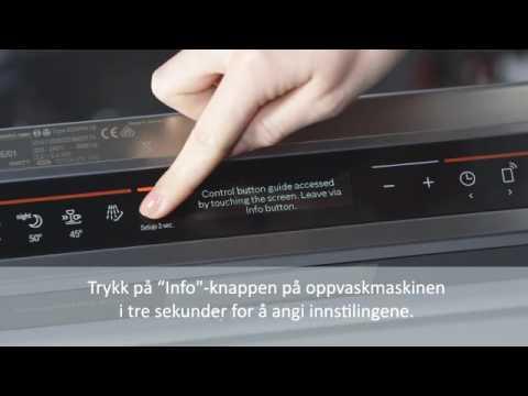 Home Connect tilkobling av Bosch oppvaskmaskin