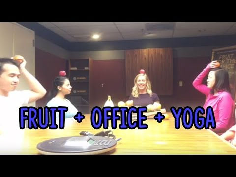Fruit + Office + Yoga: 4 Minute Mid-day Meditation
