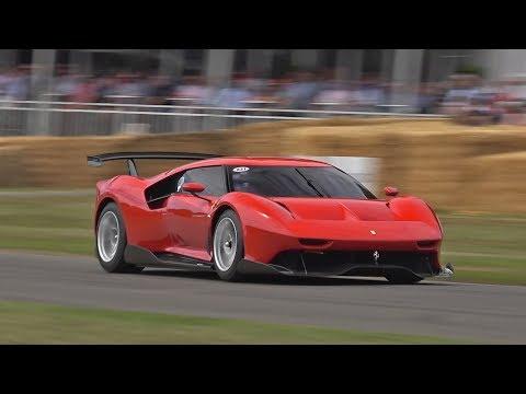 One Off Ferrari P80/C @ FOS Goodwood! Revs, Burnout, Accelerations!