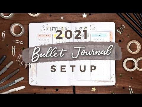 My 2021 Bullet Journal Setup