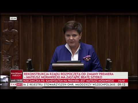 Beata Szydło: chcę Państwu podziękować za naszą wspólną pracę