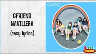 GFRIEND - NAVILLERA Lyrics (karaoke with easy lyrics)