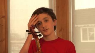Oliver's Violin Tuning lesson