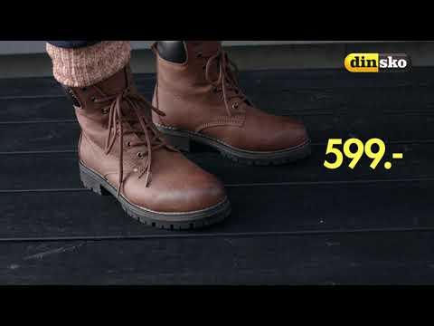 Din sko bruna stövlar 37