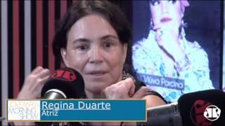 Aqui na Pan: atriz Regina Duarte fala sobre mergulho em seus personagens