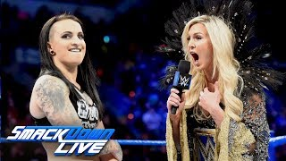 Charlotte Flair and Ruby Riott come face to face before WWE Fastlane: SmackDown LIVE, March 6, 2018
