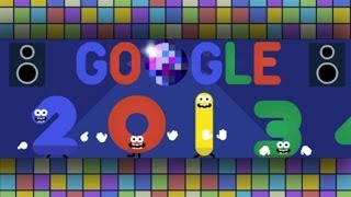 Happy New Year's Eve 2013/2014 Google Doodle [HD]